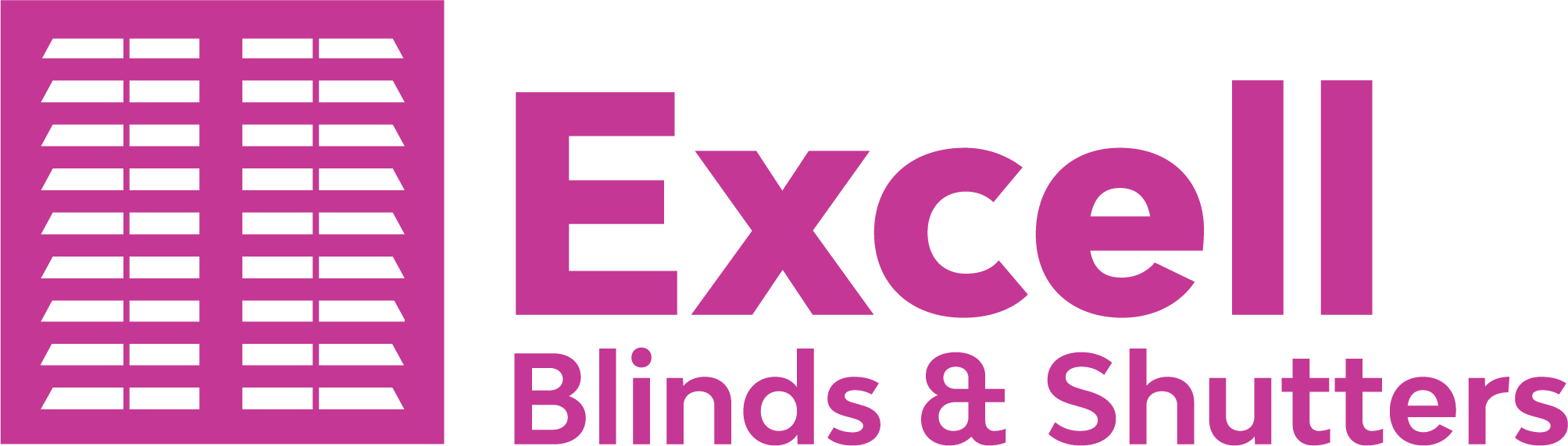 Excell Blnds and Shutters pink logo