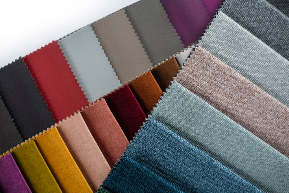 Sample of lots of different coloured fabrics
