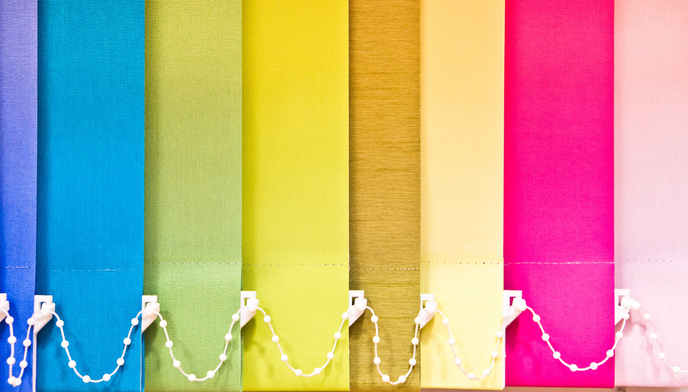 Vertical blinds in lots of different colours