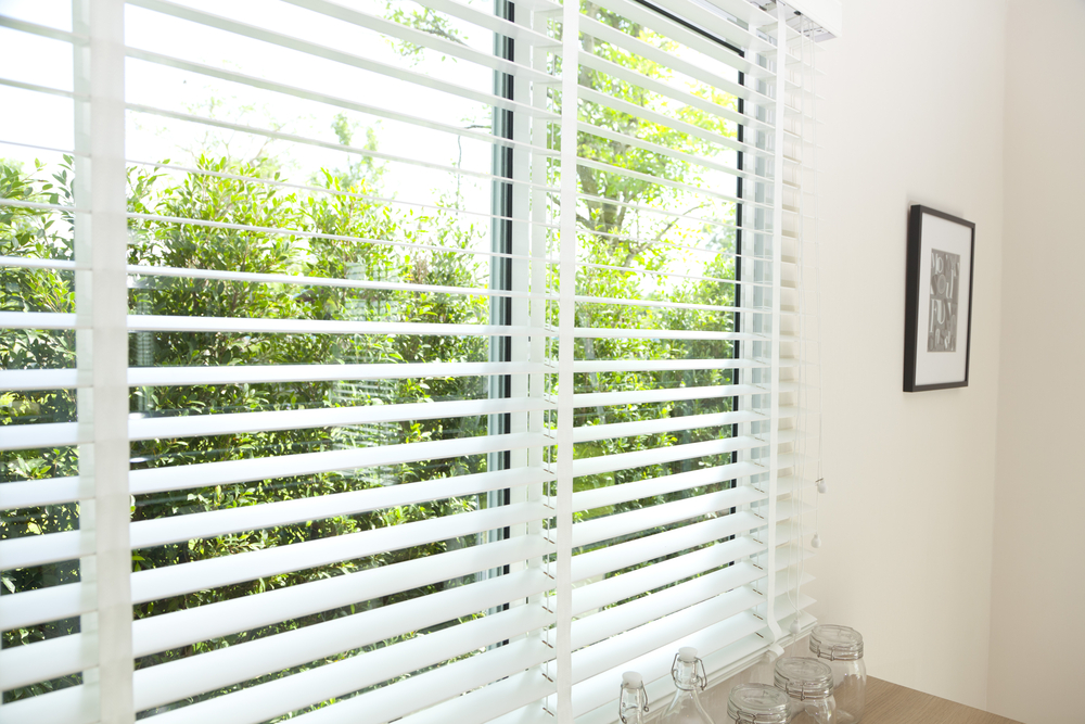 Photograph of white, perfect fit venetian blinds