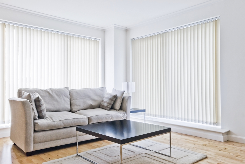 A pair of closed allusion blinds.