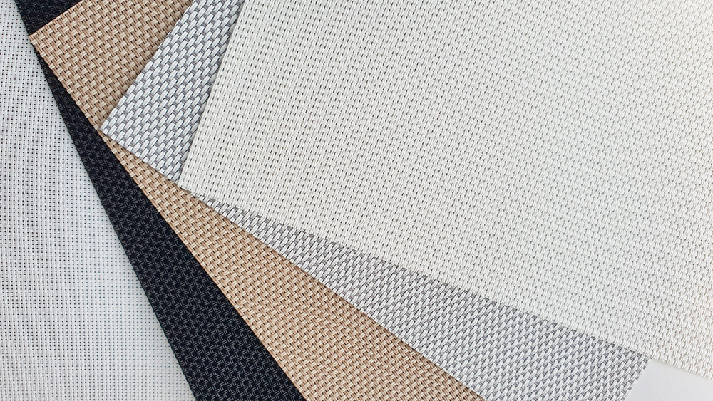 Various fabrics for different blinds.