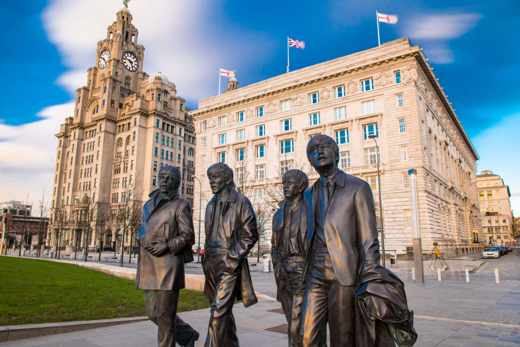 beatles by the liver building
